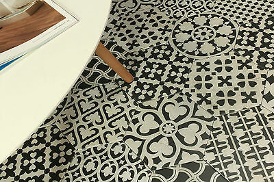 Encaustic Hexagon Monochrome Matt Ceramic Floor & Wall Patchwork Tile 200x230
