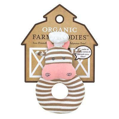 Baby Rattle Toy by Apple Park Organic Safe Non Toxic Cotton New Gift Baby Shower