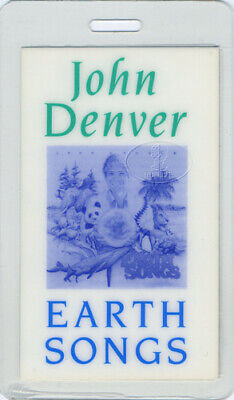 John Denver 1990 Earth Songs Laminated Backstage Pass