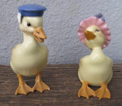 Hagen Renaker Sailor Boy Girl Gossling Goose Geese Pair Set #48 #49 Gloss