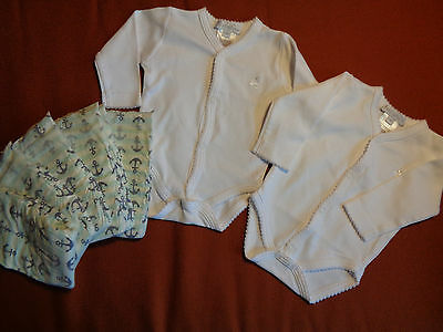 Two New Very Soft Bodysuits By Baby Cottons, 5 New Honest Diapers, Sz Newborn