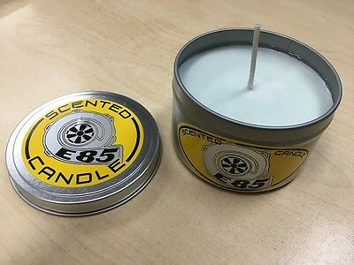 """8oz """"E85"""" Scented Candle - RACE CAR ENTHUSIAST MUST HAVE!!"""
