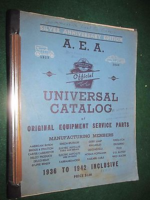 1936-1942 A.E.A. Universal Parts Catalog: GREAT Parts ID Manual! 381 Pages!