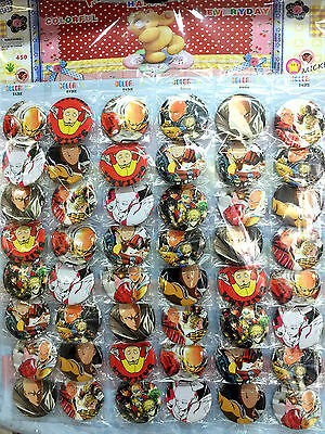 One Punch Man 4.5Cm Lot Pin Back Anime Badges Buttons Bag Cloth Party New