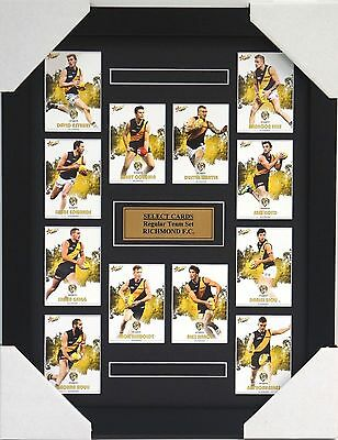 Richmond Tigers Afl 2017 Select Card Set Framed - Martin, Cotchin, Reiwoldt
