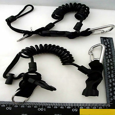 Quick Release, Coiled, Lanyard, Scuba Diving, Clips, equipment, attachments.