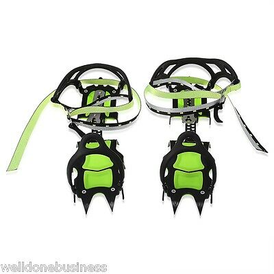 BRS - S1B Pair of Fourteen Teeth Crampon Ice Gripper for Mountaineering Hiking