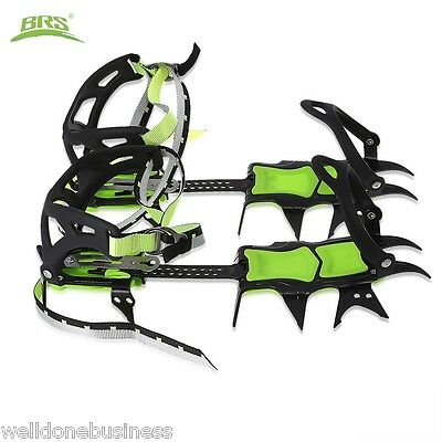 BRS - S1A Pair of Outdoor Fourteen Teeth Bundled Crampon Ice Gripper for Walking