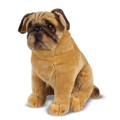 NEW Melissa & Doug Life-Like and Lovable Plush Pug Dog Stuffed Animal 2125