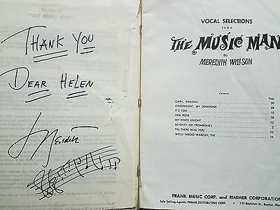 """VERY RARE Meredith Willson signed 2x Songbook """"The Music Man"""" with pics of him"""