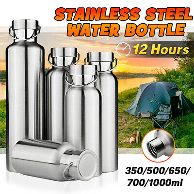 350~1000ml Stainless Steel Water Bottle for Outdoor Yoga Camping Hiking AU Stock