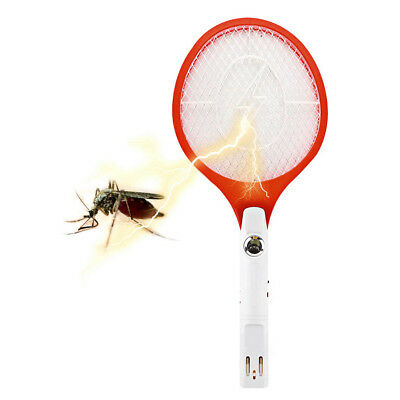Handheld Electronic Bug Zapper Racket Mosquito Fly Swatter Insects Electric Ht