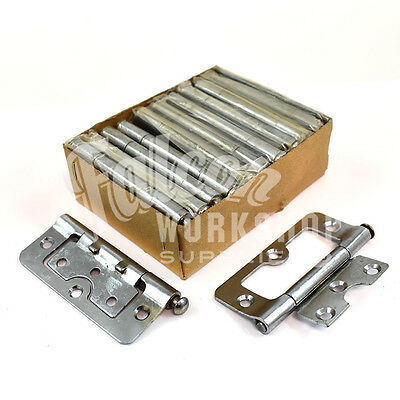 "Box Of 20 (10 Pairs) 3"" Chrome Hurlinges Loose Hinges Door Removable Pin (L2)"