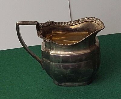 Antique / Vintage - Large - Milk / Cream / Sauce Jug - Silver Plated - Rare