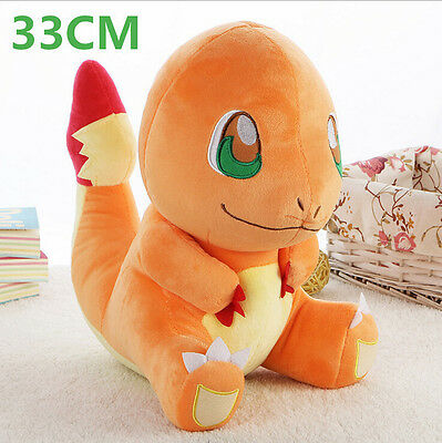 New Pokemon Go Charmander Plush Soft Teddy Stuffed Dolls Kids Toy 33cm