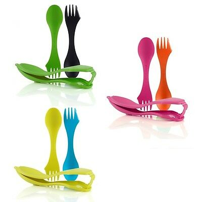 Light My Fire 2 Tritan Sporks Spoon Fork with PP Spork Case for Camping - LF4144
