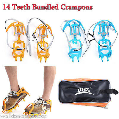 BRS Paired Ultralight 14 Teeth Bundled Crampons for Mountaineering Climbing