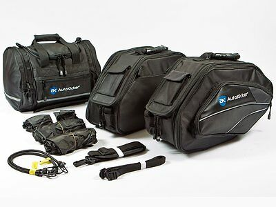 Autokicker Conqueror Saddle & Tail / Roll Bag Kit For Motorbike and Motorcycles