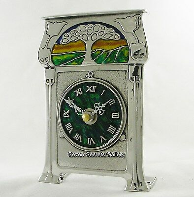 Archibald Knox Pewter Clock Art Nouveau Design | AK36 | Made in England | NEW IN