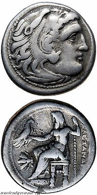 Ancient Greek Coin Alexander The Great Silver Drachm Coin Magnesia 323-319 Bc