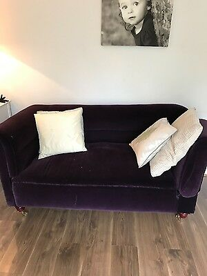 Stunning Victorian Fully Restored Antique Drop Arm Chesterfield Sofa C19C