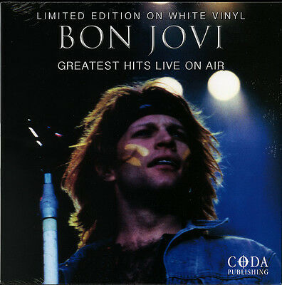 Bon Jovi - Greatest Hits Live On Air - Limited White Vinyl LP *NEW & SEALED*