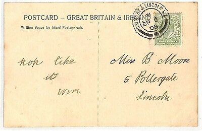 AZ401 1908 GB *GRIMSBY & LINCOLN* Postcard {samwells}PTS