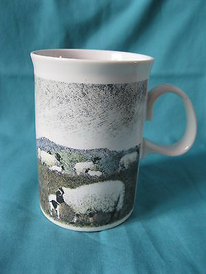 Cheviot, sheep & hills stoneware mug 11cm 300ml design by Jack Dadd for Dunoon