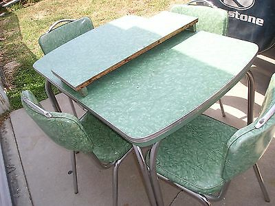 Charmant 1950u0027s Vintage Kitchen And Table Chair Set...usa Cracked Ice Naugahyde Vinyl