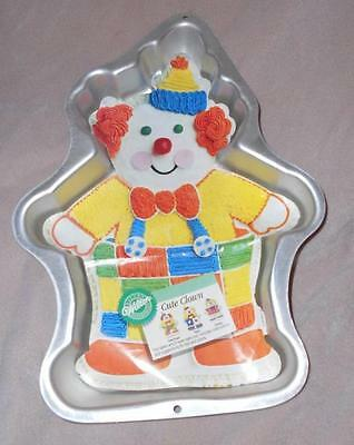 Wilton Cute Clown Full Body Cake Pan 1998 #2105-6711 with Instructions Insert