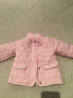 Gorgeous Girls Quilted Coat/ Jacket By Young Dimensions Age 18-24 Months