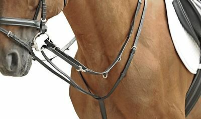 HKM Horse Riding Equestrian Calf leather Martingale Rein Combo Market Harborough