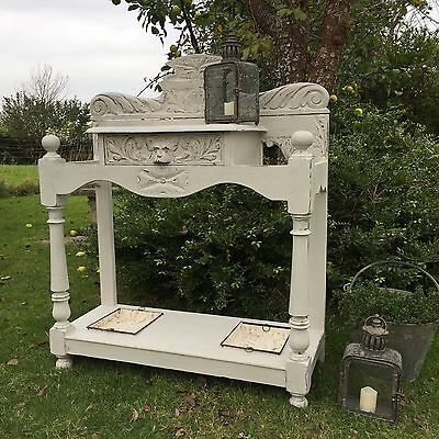 "Antique Vintage Grey Victorian ""Green Man"" Umbrella / Hall Stand / Console Table"