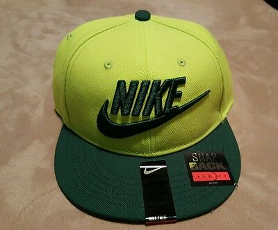Nike Youth Future True SnapBack Adjustable Hat Lime Green 614590-383