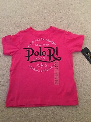 Gorgeous Girls Pink T Shirt/ Top By Ralph Lauren Age 18-24 Months (2 Years) NEW