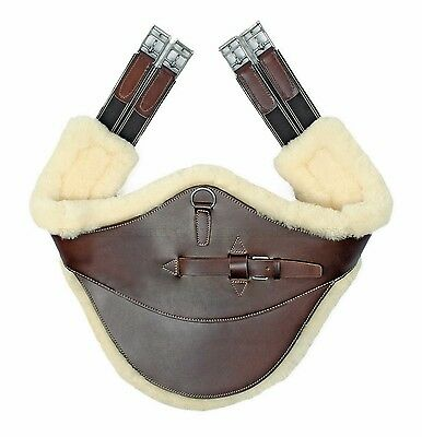 Sottopancia paramponi con montone belly protector girth with removable sheepskin