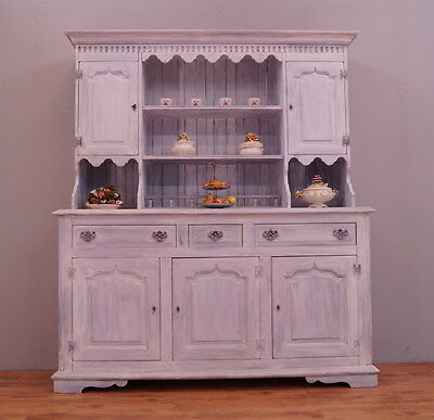 1733 !! Amazing French Dresser/cabinet In Country Style !!