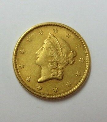 1852 (Type 1) $1.00 Gold Piece AU