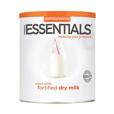 EMERGENCY ESSENTIALS - Dehydrated Milk, Instant Nonfat Fortified can