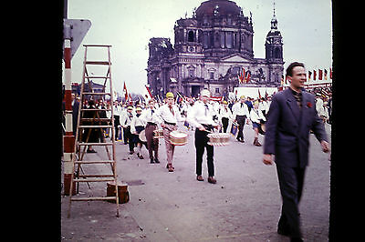 Berlin Alexanderplatz Am Lustgarten Am Dom FDJ Privat Dia 1964 Friedensvertrag