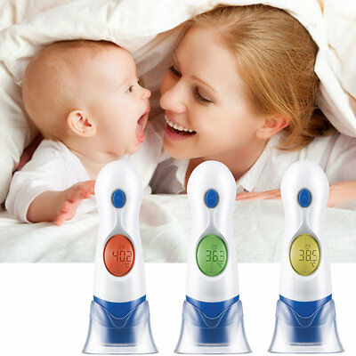 4 In 1 LCD Digital Electronic Infrared Ear Thermometer For Baby Kids HT-208 HT