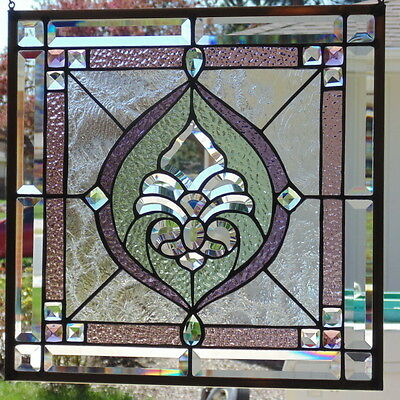 Stained Glass window hanging 18 X 18""