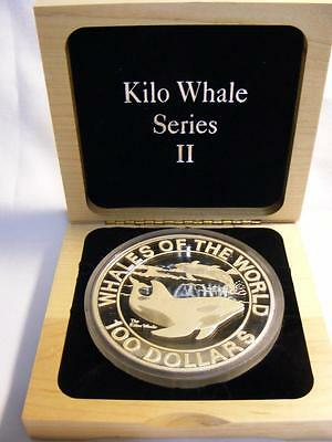 1994 Bahamas Proof $100 Whales of the World 1 Kilo .999 Silver 32.15 Oz Mtg. 750