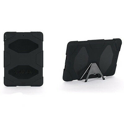 New Griffin Survivor military-duty case cover with stand for iPad AIR 1 Black
