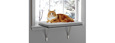 New Pawslife Window Mounted Pet Cat Perch Bed or Seat-Comfort Cushion kitty cot