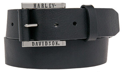 Harley-Davidson Men's Heavy Hitter Genuine Smooth Leather Belt HDMBT10835-BLK