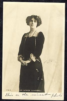 a1376.... Mrs Patrick Campbell .. Edwardian Actress...  Dated 1903