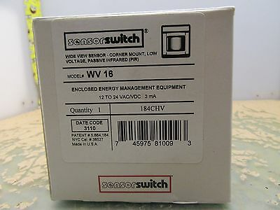 Sensor Switch WV 16 wide view corner mount PIR occupancy 184CHV (2*OO-79)