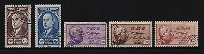 Syria - 5 Airmail stamps - cat. $ 24.45