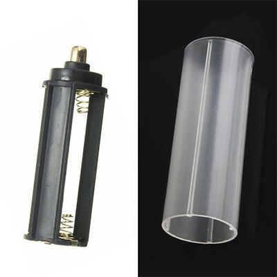 1PCS 18650 Battery Tube + 1PCS AAA Battery Holder for Flashlight Torch Lamp UP